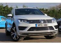 VOLKSWAGEN TOUAREG 3.0 V6 R-LINE TDI BLUEMOTION TECHNOLOGY 259 BHP 2015 15 WHITE