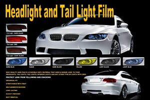 HEADLIGHT/TAIL LIGHT/TINT/FILM/COVER/SMOKE COLOR/YELLOW/BLACK