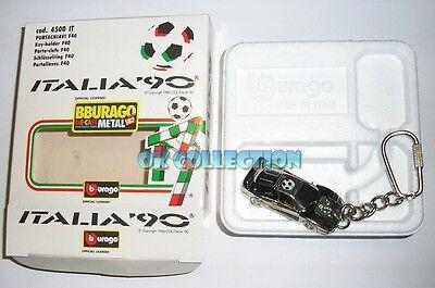 VISIT MY EBAY - GADGET KEYCHAIN VINTAGE BURAGO FERRARI F40 WORLD CUP ITALIA '90.