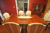 9 piece hardwood dining set from 1928, refinished