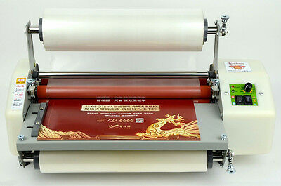 Newest Version Four Rollers Hot And Cold Roll Laminating Machine For 13