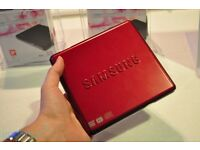 Samsung SE-S084D/TSBS Super WriteMaster Slim External DVD Writer (Red)