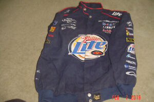 Rusty Wallace Miller Lite Bomber Jacket NASCAR 2003 LIKE NEW