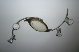 Track Lighting With Center Frosted Glass Light (2 sets)
