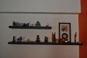 Ikea wall shelf with concealed hardware