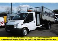 2012 FORD TRANSIT 350/125 SINGLE CAB ALLOY CAGE TIPPER WITH STORAGE BOX ,6 SPEED