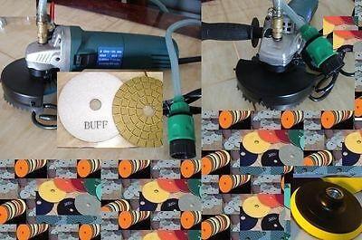 Variable Speed Wet Polisher 4 Inch Polishing 16 Pad Buff Granite Concrete Sander