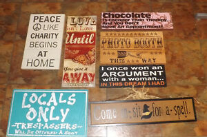 Lot of Home Decorating SIGNS SAYINGS...$5.00 EACH