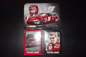 NASCAR - Bill Elliott Tin & Playing Cards (2 Packs) - SEALED $5