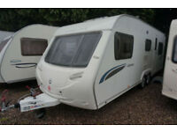 2009 STERLING EUROPA 650 6 BERTH TWIN AXLE CARAVAN - SPACIOUS TOURER