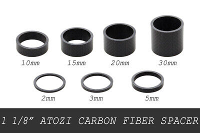 "11PCS Bike Washers Carbon 1-1//8/"" MTB Cycle Stem Headset Spacer 2//3//5//10//15//20mm"