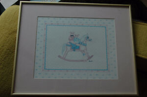 Girl's Room Picture - Bear on Rocking Horse