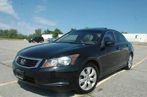 2008 HONDA ACCORD  SEDAN LEATHER/SUNROOF/AUX CERTIFIED