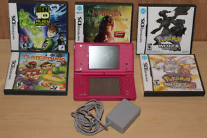 Hot Pink Nintendo DSi and 5 Games