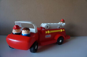 Vintage  Little Tikes Toddler Tots Red Fire Truck Engine