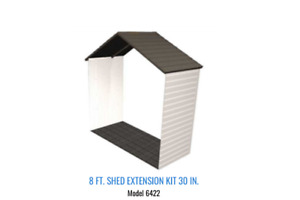 lifetime shed additions 8ft×30in