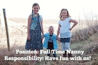 Full Time Nanny Position Available