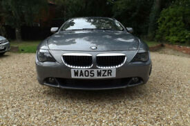 2005 BMW 630 Ci COUPE 3.0i 6 CYLINDER 258 BHP 6 SPEED FBMWSH LEATHER SAT NAV 6CD