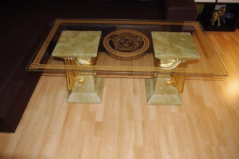 couchtisch medusa m ander m bel aus stein fossiltisch glastisch marmor tisch eur 279 00. Black Bedroom Furniture Sets. Home Design Ideas
