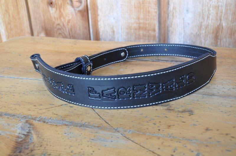 Personalized  Custom Quality Leather Rifle Gun Sling Amish M