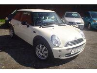 2006 Mini 1.6 One Seven+low miles 59k+excellent condition+cream
