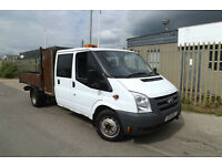 2011 11 Ford Transit 2.4 TDCI T350 XLWB DROPSIDE PICK UP CREW CAB 6 SEATER 81K