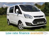 Ford Transit Custom BIGGER POWER 155BHP 290 LIMITED LR DOUBLE CABIN VAN ONLY 17K