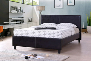 Low profile leather bed frame &mattress $380