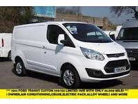 2014 FORD TRANSIT CUSTOM 290/125 LIMITED SWB IN WHITE WITH 36.000 MILES,AIR COND