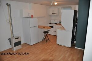 ONE BEDROOM BSMNT SUITE   -   STILL AVAIL.  JAN 16/17