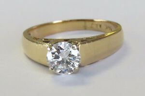 REDUCED PRICE!   0.75ct Diamond Round Solitaire Ring
