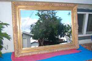 Antique Swept Mirror with Bevelled Edge (Large)