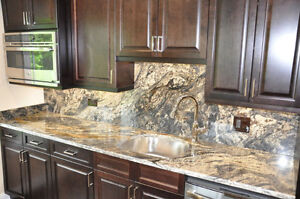 EnjoyHome Granite/Quartz Kitchen Counter top For Sale Cambridge Kitchener Area image 1