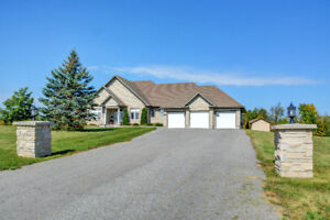 WOW! 4 Bedroom Bungalow on 2.5 Acres Minutes to CTC and Kanata