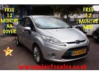 SILVER 2009 58 FORD FIESTA 1.4 TITANIUM 5DR FORD SERVICE HISTORY BLUETOOTH