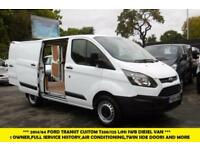 2014 FORD TRANSIT CUSTOM 330/125 L1H1 SWB RARE DIESEL VAN TWIN SIDE LOADING DOOR