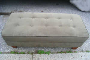 Slightly used Ottoman, green olive color