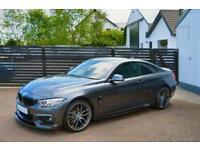 2014 64 BMW 4 SERIES 2.0 420D M SPORT 2D AUTO 181 BHP MINERAL GREY M PERFORMANCE