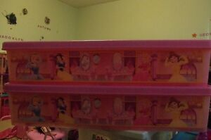 2 under the bed storage containers Disney Princess