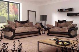 50% sale Brand new Dylan sofa 3+2 modern new design,wow foam cushions,brown + beige,black or grey