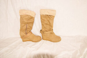 Aldo Suede wedge Boots