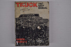 Ford Factory Service Manual - 1987 Ranger & Bronco II