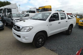 2010 60 Toyota Hilux 2.5 D-4D DOUBLE CAB PICK UP 4X4 DIESEL FTSH AIR CON CD