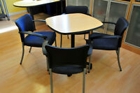 Teknion Office Table and 4 Chairs - Like New!
