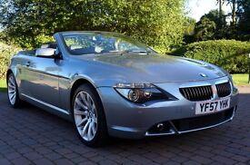 2007 '57 BMW 650i M SPORT CONVERTIBLE V8 AUTO NAVI (372BHP) **ONLY 40K MILES)