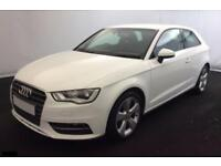 2016 WHITE AUDI A3 1.2 TFSI 110 SPORT PETROL AUTO 3DR CAR FINANCE FROM 46 PW