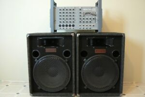 PA System - Biamp Mixer & Sonic Speakers-  sound system