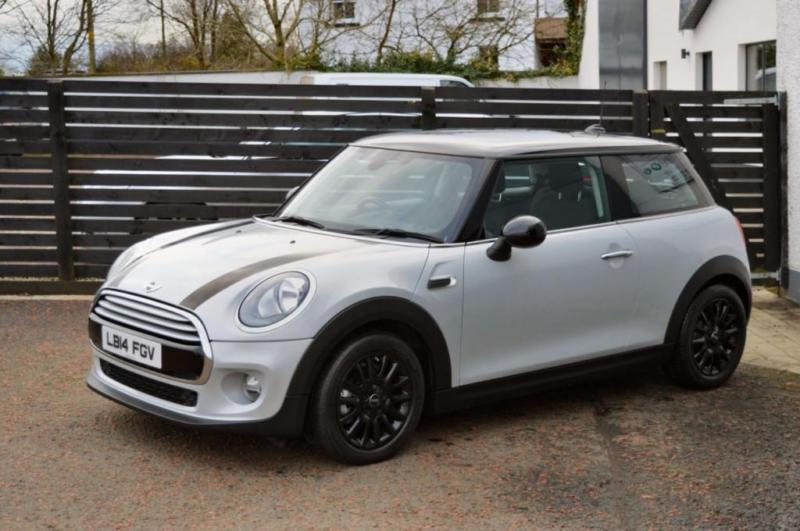 2014 mini hatch cooper d 1 5 auto silver white top spec in ballymoney county antrim gumtree. Black Bedroom Furniture Sets. Home Design Ideas