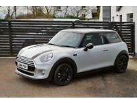 2014 MINI HATCH COOPER D 1.5 AUTO SILVER WHITE TOP SPEC