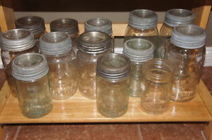 Antique Glass Crown Preserve Jars w Bands & Lids Kitchener / Waterloo Kitchener Area image 8